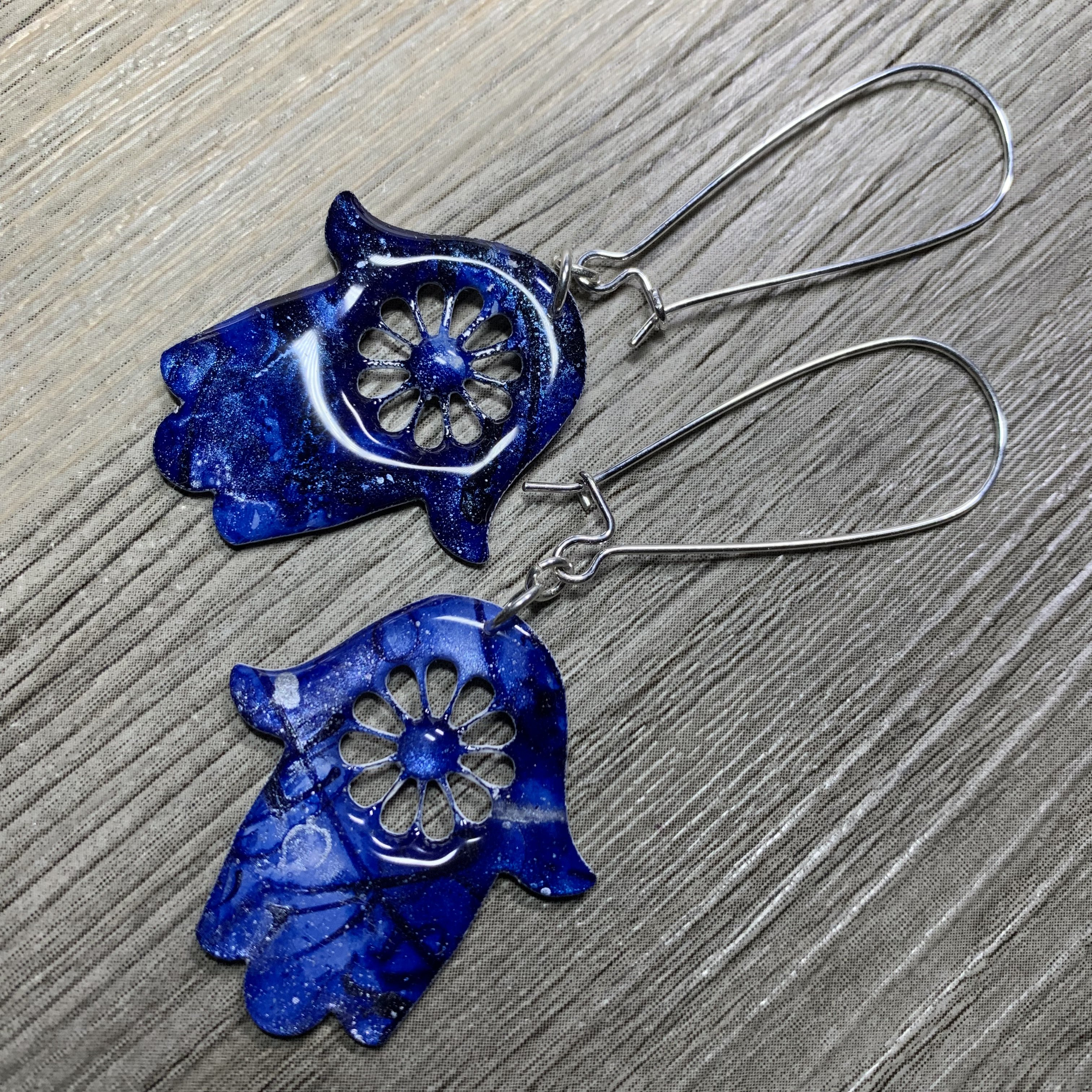 blueflowerhamsaearrings